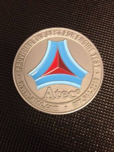 The official Atec Challenge Coin