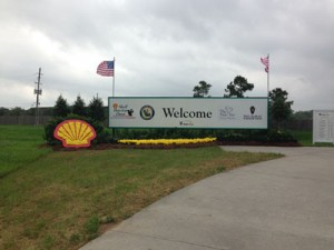 Shell Houston Open welcome sign