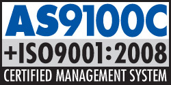 AS9100 and ISO9001 logo