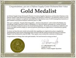 Gold Medalist Award