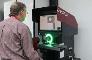 Optical Comparator in Use