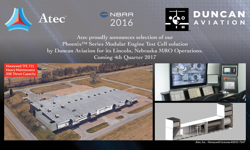 Duncan Aviation Chooses Atec, Inc  for Engine Test Cell Expansion – Atec